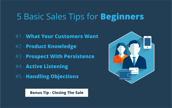 5 Basic Sales Tips for Beginners