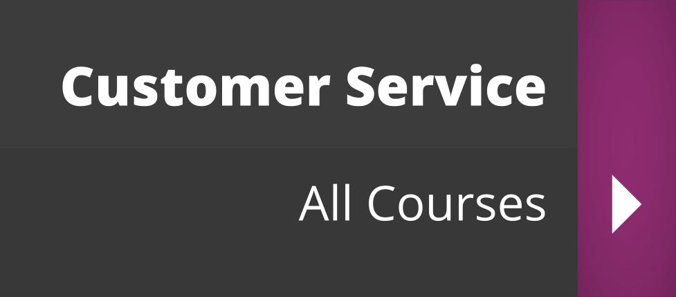 Customer Service Courses - Full Course List