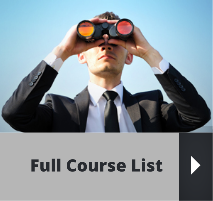 Full Training Course List for Staff
